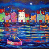 Town Sailing Boat - Diamond Painting Kit