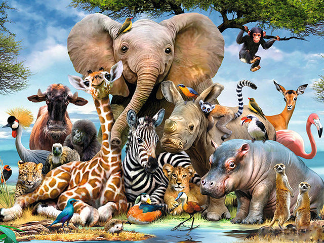 Jungle Animals Diamond painting Kit