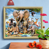 Jungle Animals - Diamond Painting Kit