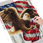 Eagle Flag - Diamond Painting Kit