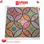 Mosaic Embroidered Flowers - Diamond Painting Kit