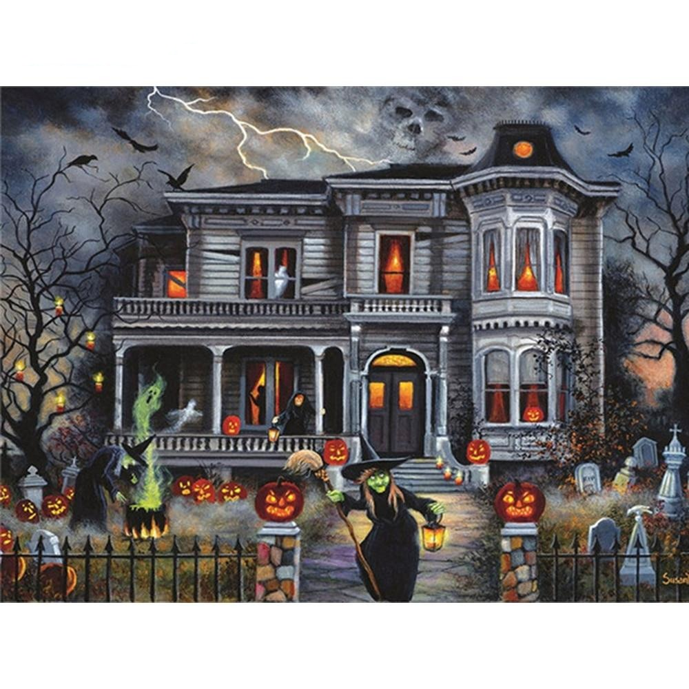 Halloween House - Diamond Painting Kit