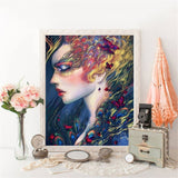 Closed Eyes Beauty - Diamond Painting Kit