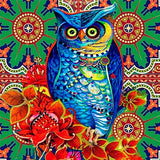 Floral Owl - Diamond Painting Kit