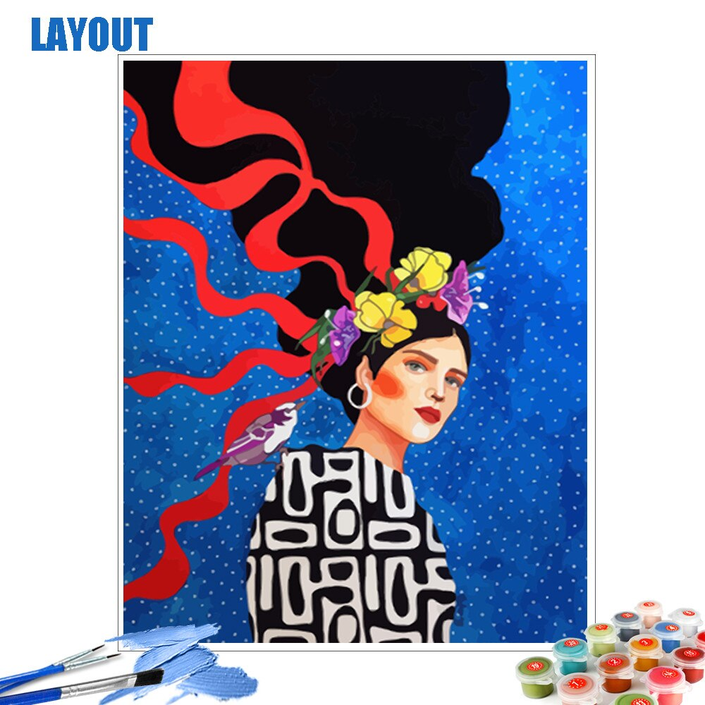 Art Deco Woman - Paint By Number Kit