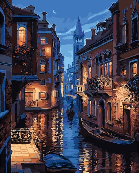 Venice Night - Paint By Number Kit