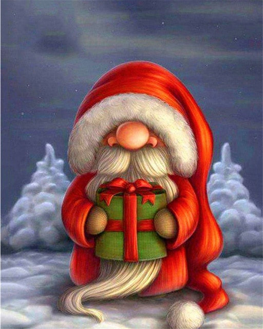Cartoon Santa - Paint By Number Kit