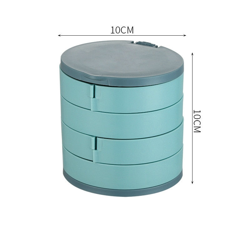 Multilayer Rotating Jewelry Storage Box