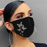 Rhinestone Face Mask