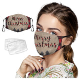 Christmas Face Mask With 2 Free Carbon Filters