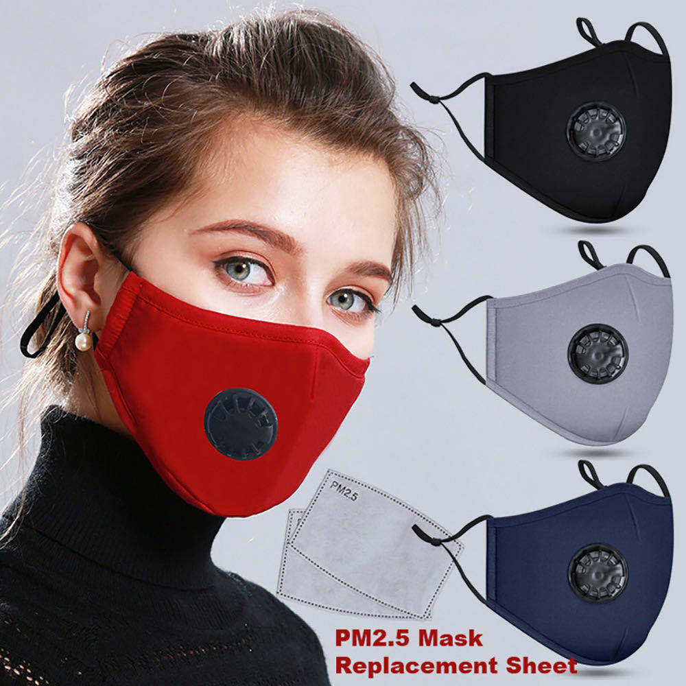 Dust-Proof Face Mask With 2 Free Carbon Filters