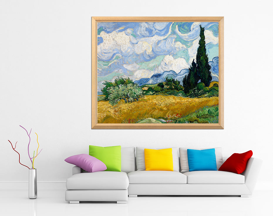 "Vincent van Gogh "" Wheatfield with Cypresses"" - Diamond Painting Kit"