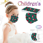 Children's Disposable Christmas Print Face Mask