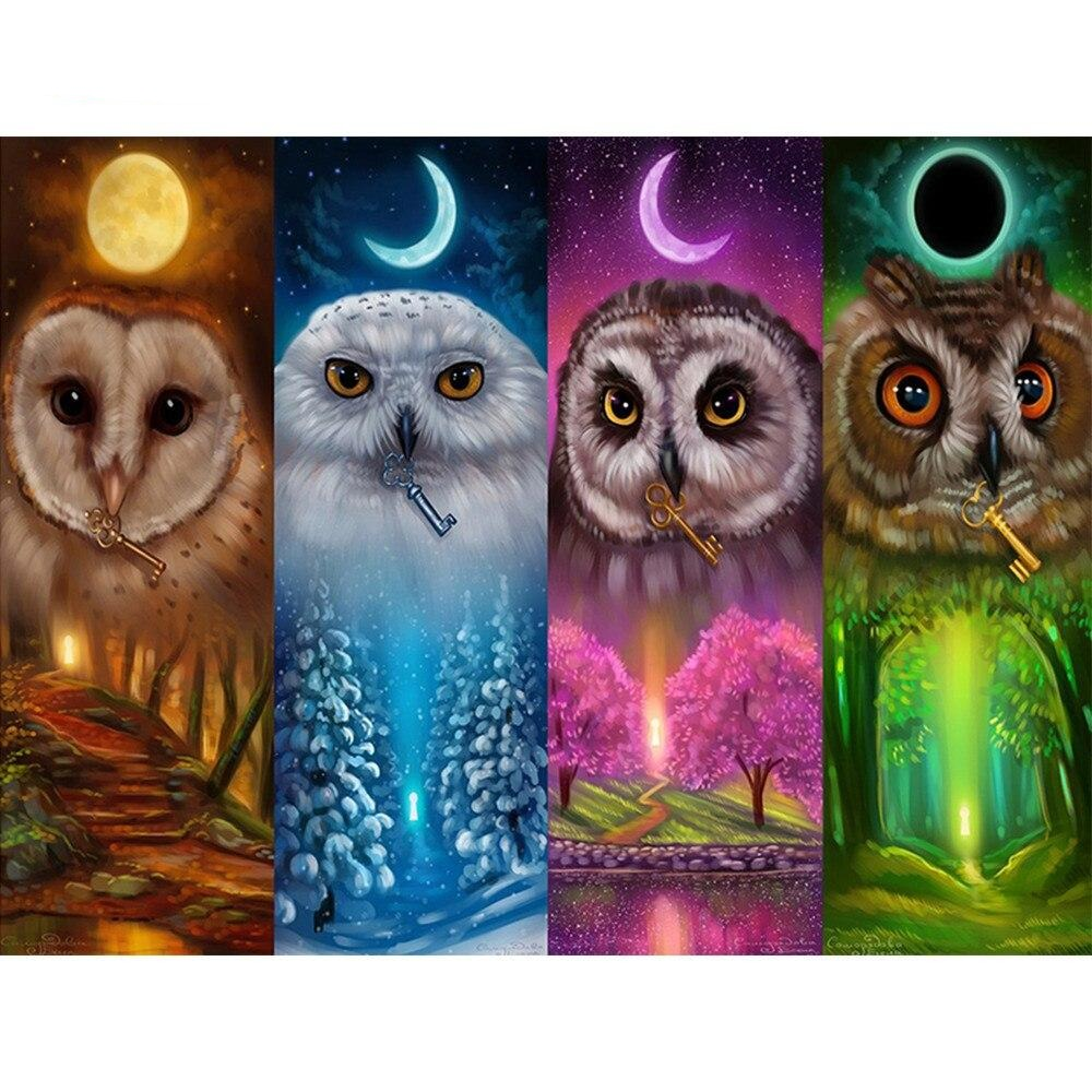 4 Owl Expression - Diamond Painting Kit