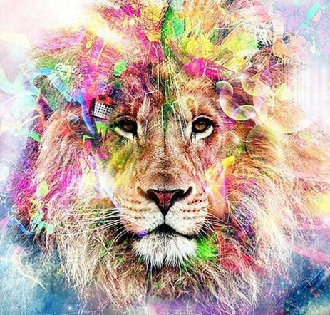 Dreamy Lion - Diamond Painting Kit