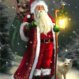 Santa On The Walk - Diamond Painting Kit