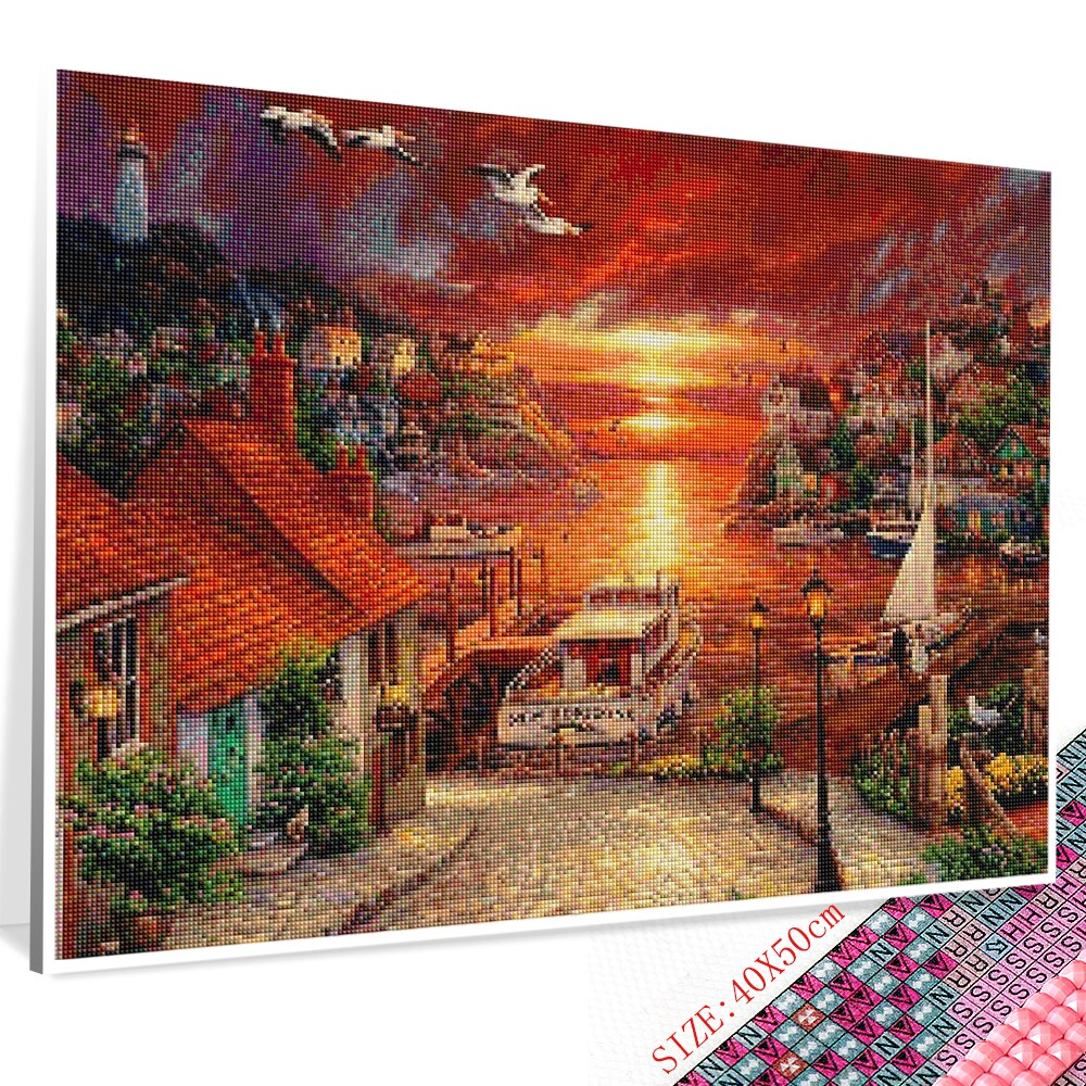 Sunset Town - Diamond Painting Kit