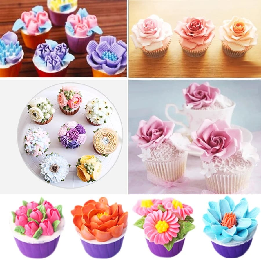 CakeCare - Flower Shaped Frosting Nozzles ( 14 Pcs Set)