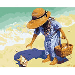 Beach Girl - Paint By Number Kit
