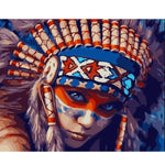 Red Indian Girl - Paint By Number Kit
