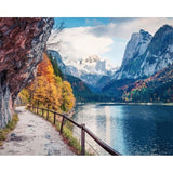 Mountain River Path - Paint By Number Kit