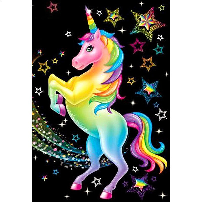 Rainbow Unicorn - Diamond Painting Kit