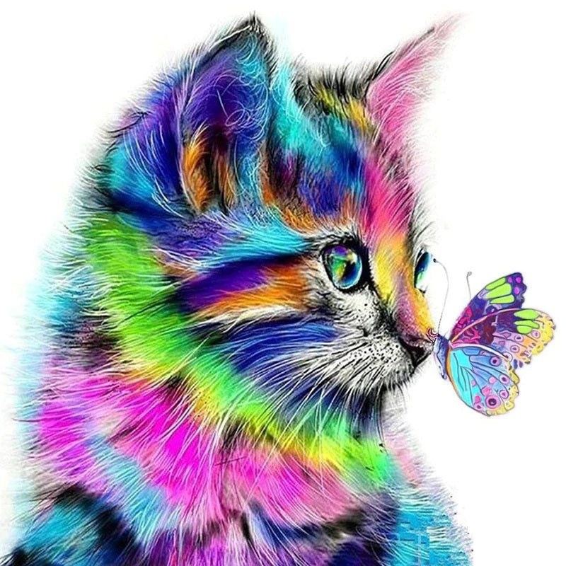 Rainbow Kitty - Diamond Painting Kit
