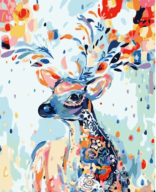 Abstract Deer - Paint By Number Kit