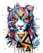 Abstract Tiger - Paint By Number Kit