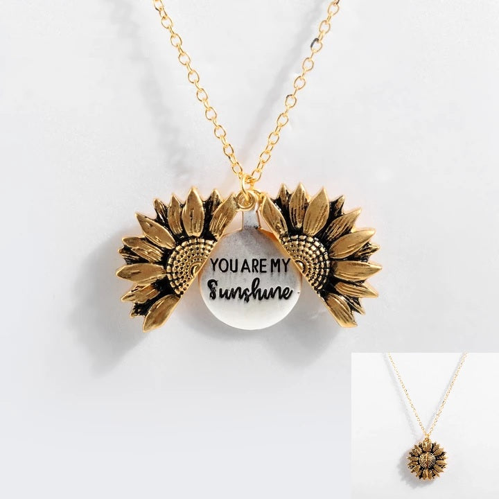 You Are My Sunshine - Sunflower Pendant Necklace
