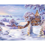 Winter Town - Paint By Number Kit