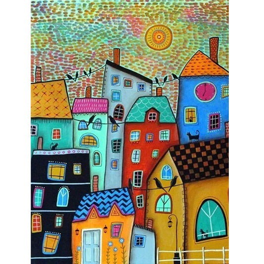 Abstract House - Diamond Painting Kit
