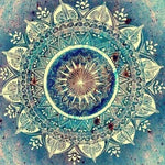 Blue Mandala - Diamond Painting Kit