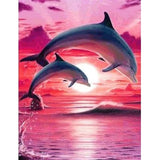 Dolphin Couple Diamond Painting Kit