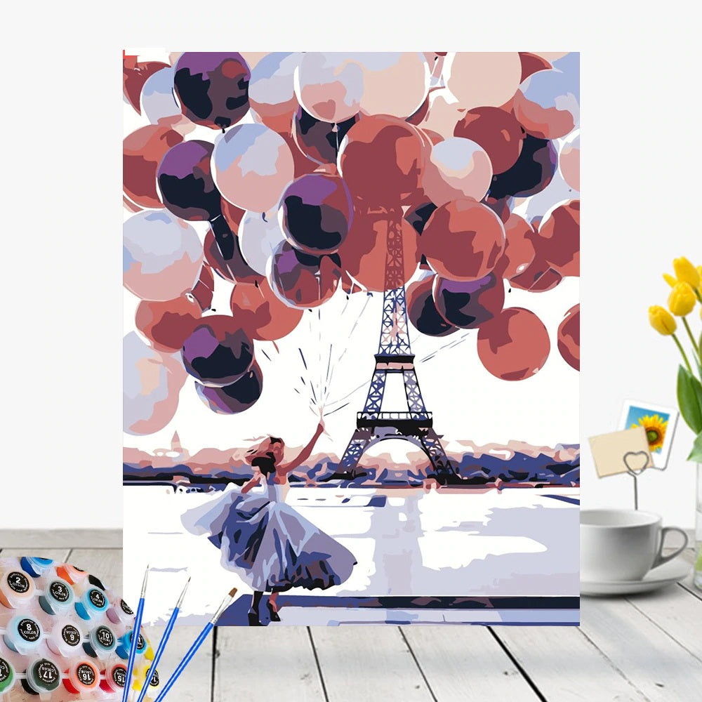 Hidden Eiffel Tower - Paint By Number Kit