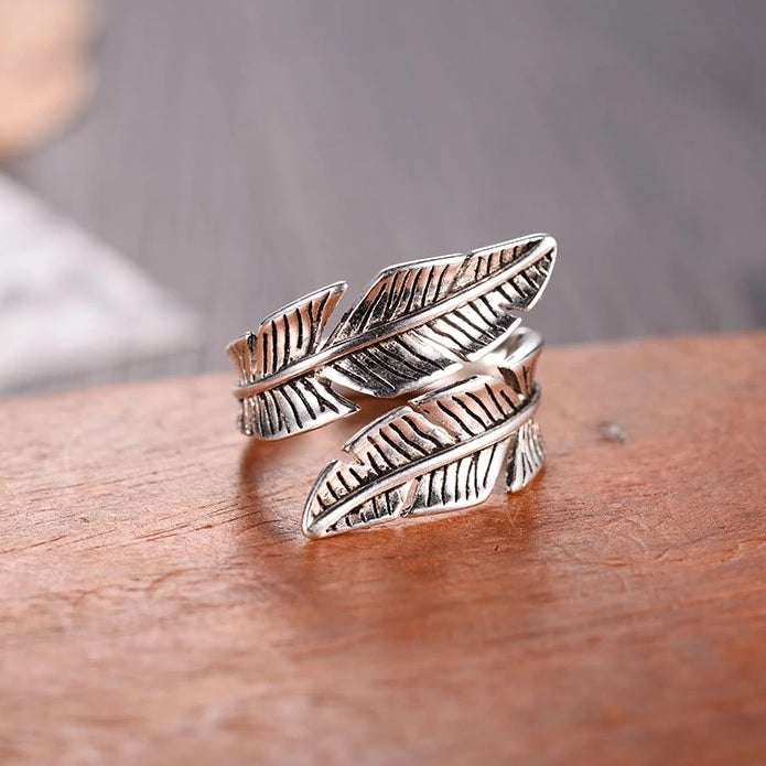 Angel - Feather Sterling Silver Ring