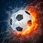 Fiery Football - Diamond Painting Kit