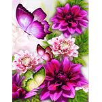 Flower Butterfly Diamond Painting Kit