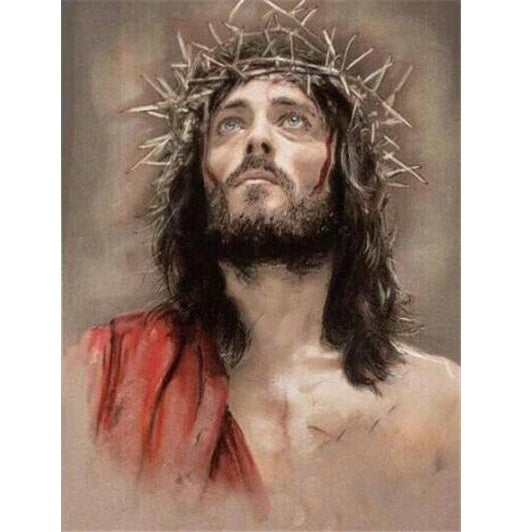 jesus christ with thorn crown diamond painting kit