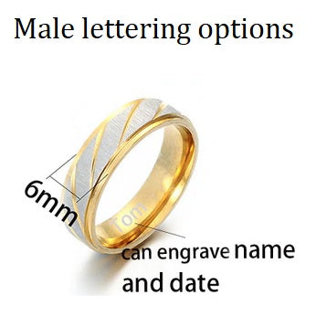 Customized Engrave Name Lovers Couple Rings