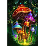 Mushroom House Diamond Painting Kit