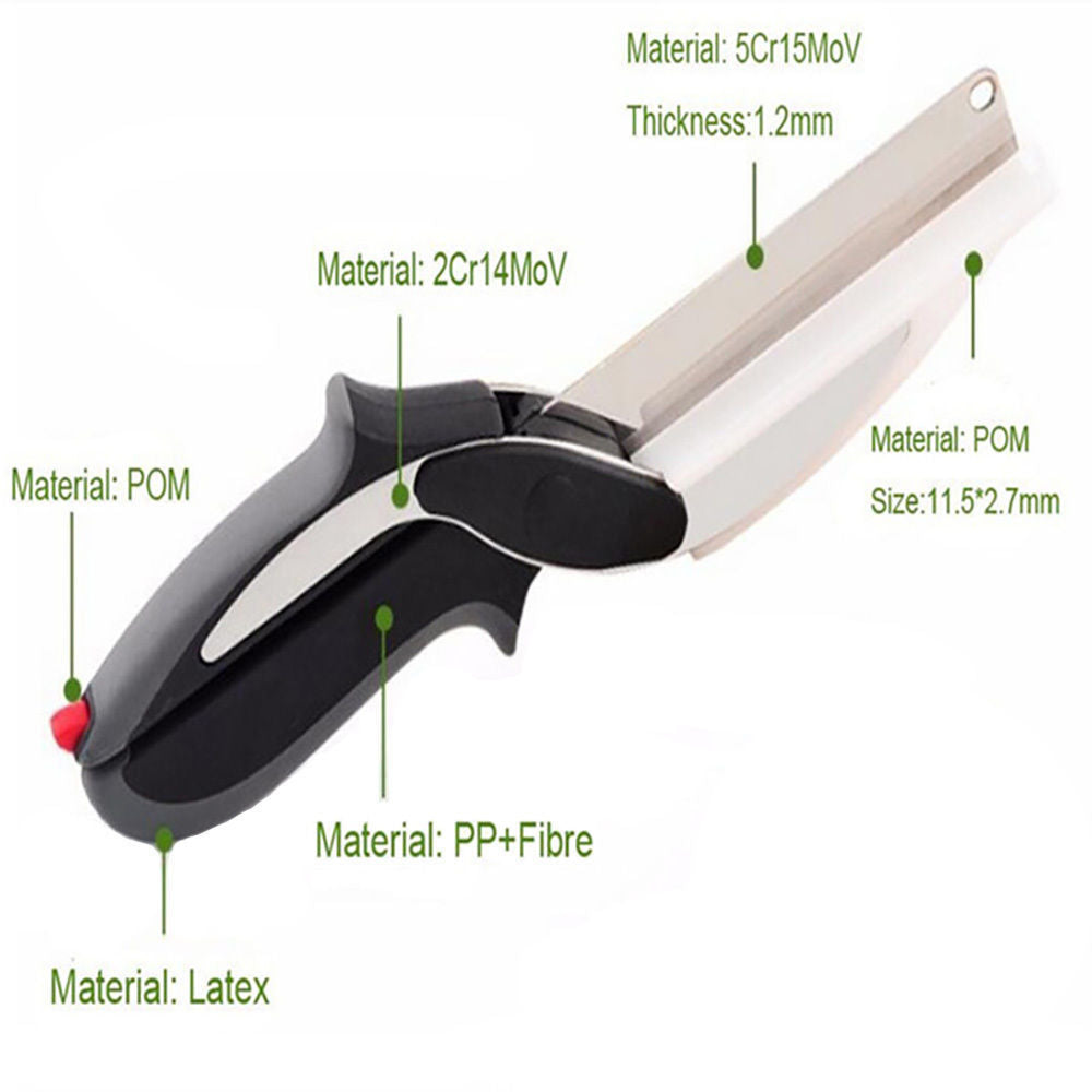 Clever Cutter 2-In-1 Food Chopper Kitchen Scissors