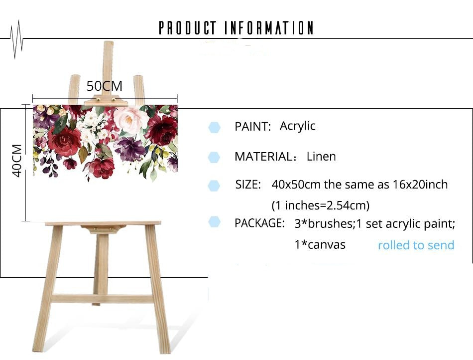 Hanging Flowers - Paint By Number Kit