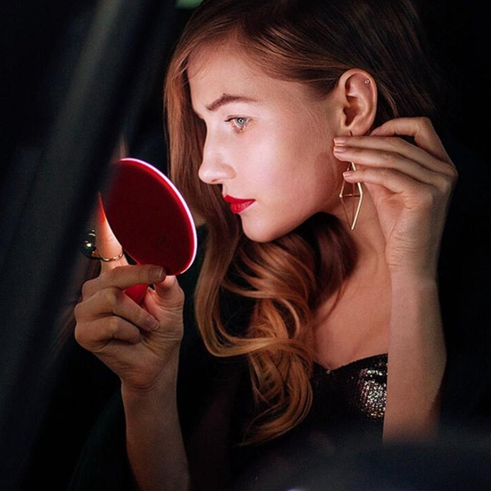 Portable LED Makeup Mirror & Wireless Mobile Phone Charger