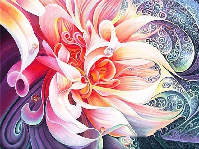 Abstract Flowers - Diamond Painting Kit