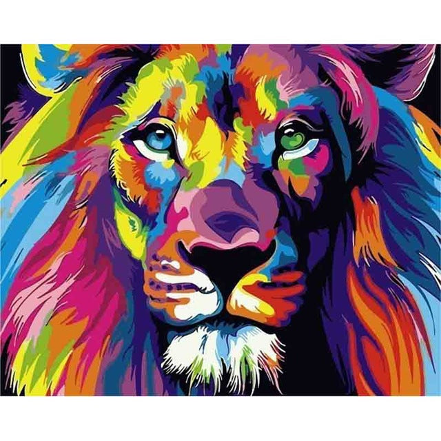 Pop Art Lion - Diamond Painting Kit