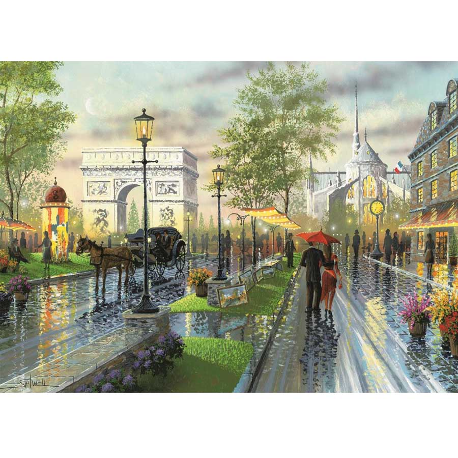 Rainy Day Street - Diamond Painting Kit
