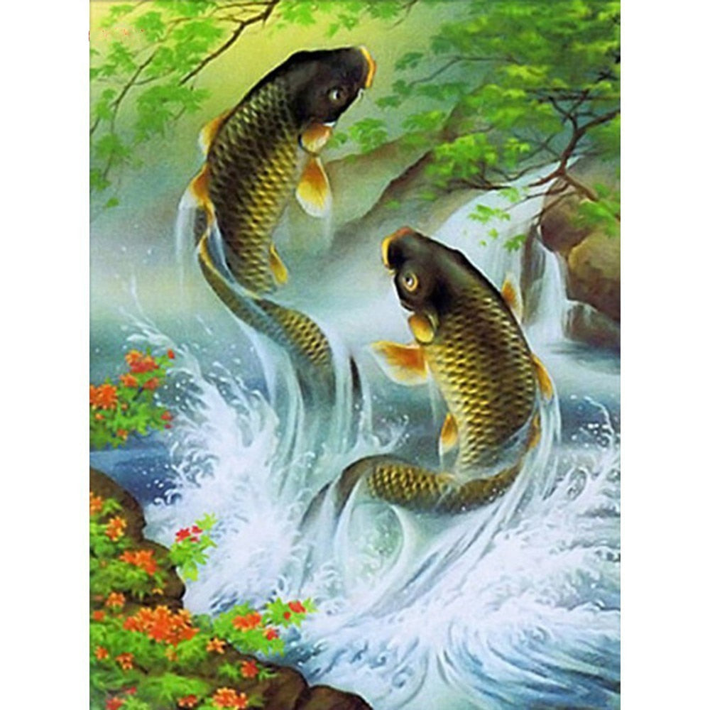 Playful Fish - Diamond Painting Kit