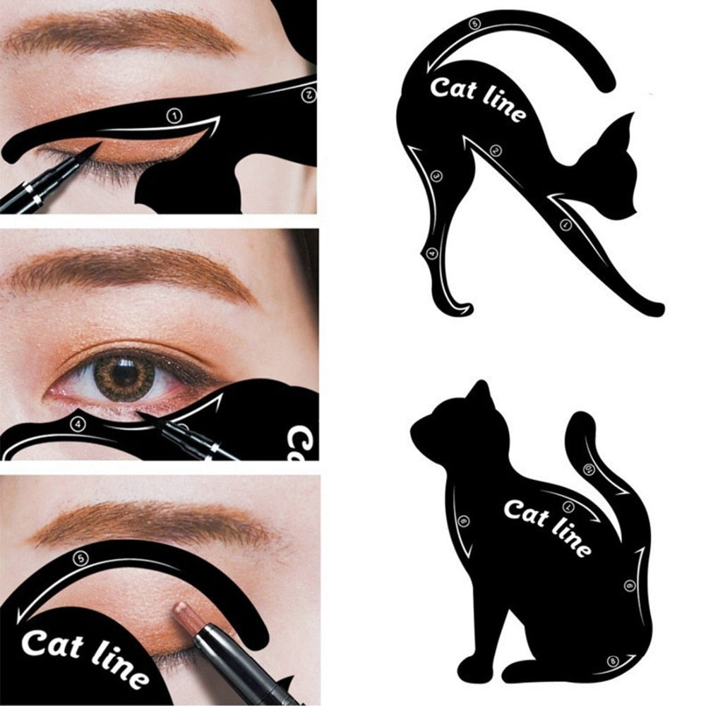 Kitten - Cat Eyeliner Stencil Template For Women (2pcs)