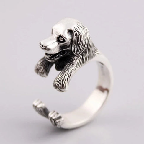 Labrador Dog Sterling Silver Ring